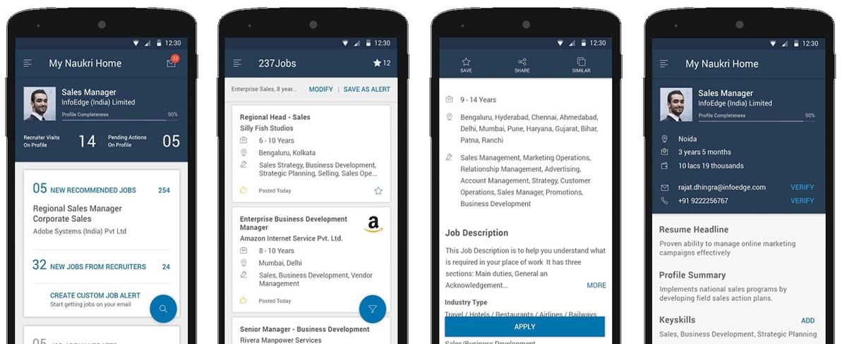 Naukri like Job Portal App Development Cost
