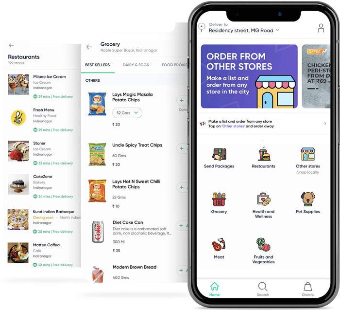 online grocery delivery app like Dunzo