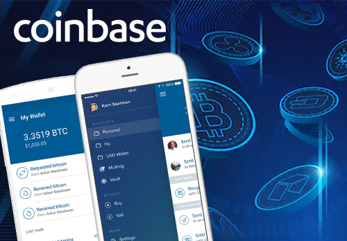 Famous cryptocurrency exchange coinbase