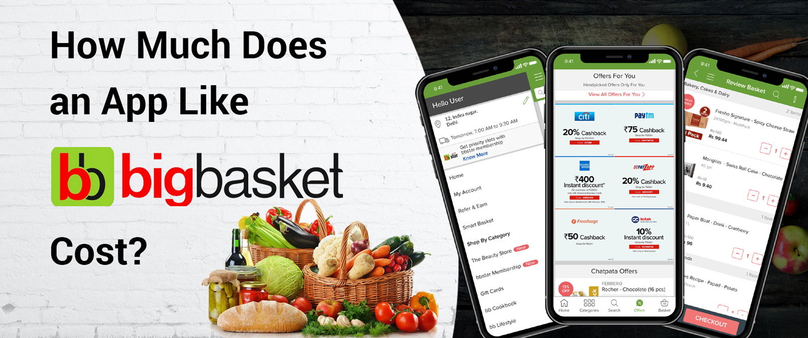 Cost to Develop an App like Big Basket