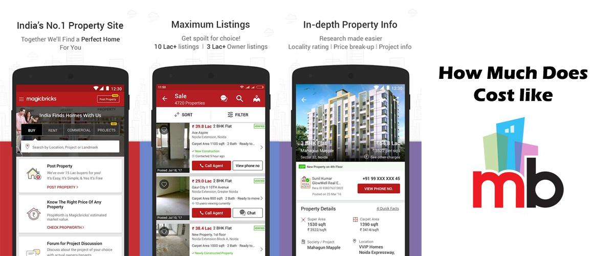 Magicbricks like Real Estate Website, App Development Cost