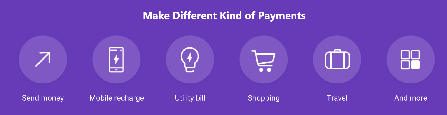 diffrent kind of payments