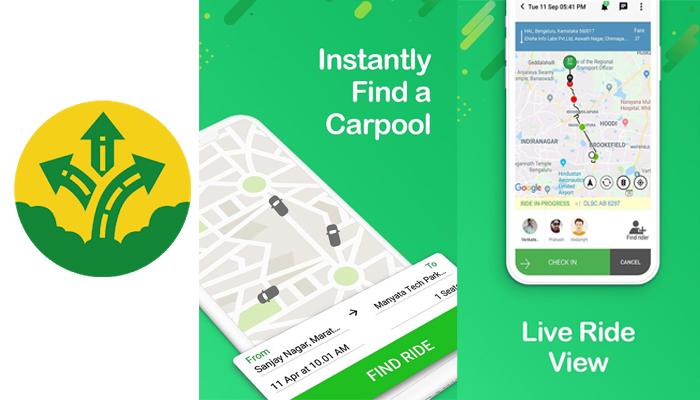 carpooling app development cost