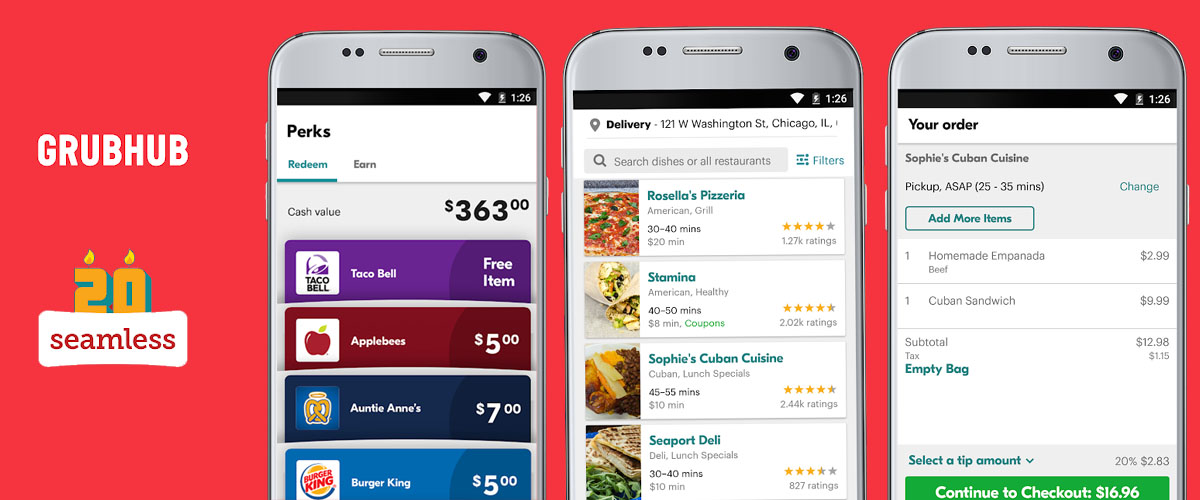 How Much Cost To Develop Food Delivery App Like Grubhub, Seamless