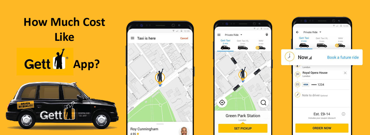 Taxi Booking App Like Gett Cost