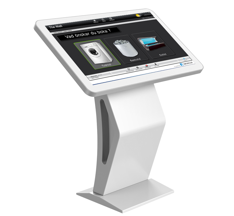 the-wall facilities booking kiosk app