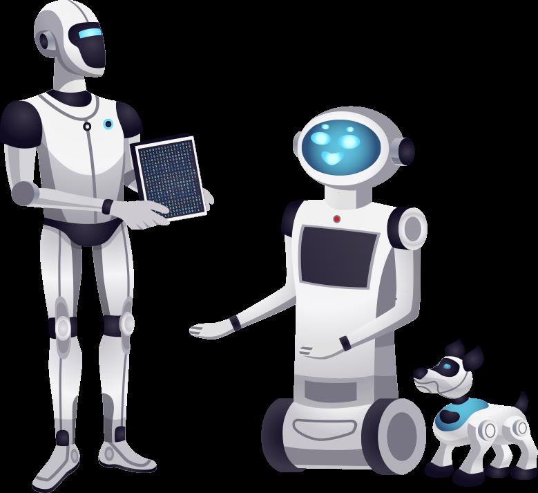 Three Robots having Different Capabilities