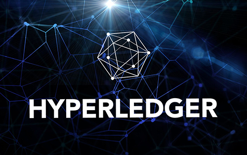 A Luminating Blue Hyperledger Symbol
